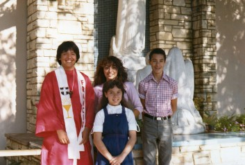 David's confirmation with Cissy, Raul, Becky