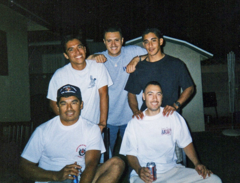 Raul's coming home party from Army, Chacho, David, Jr., Tacho
