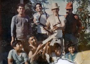 Chepe with his huge buck, Tio Beto, Tereso, Julian, Tio Gabriel