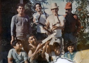 Chepe with his huge buck, Tio Beto, Tereso, Julian, Tio Gabriel