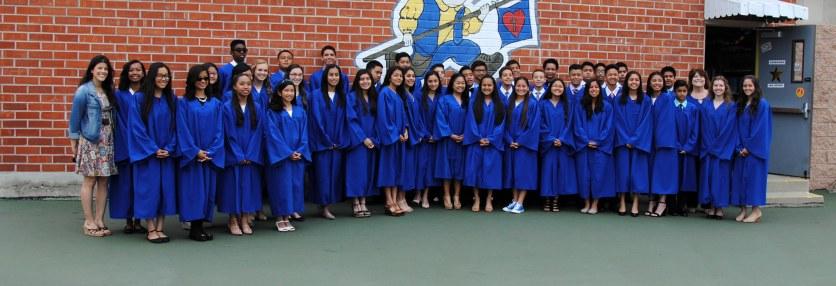 Miranda, Angela, 8th grade graduation, 2015, St. Pius