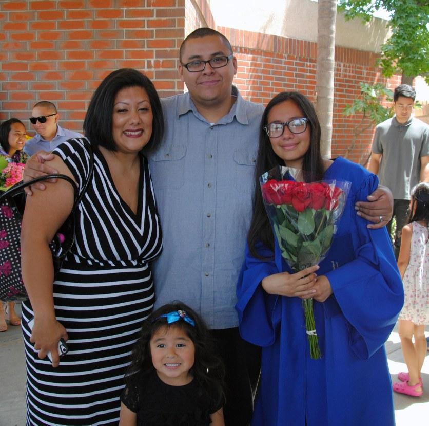 Miranda, Nene, Edgar, Sarah, 2015 St. Pius 8th grade graduation