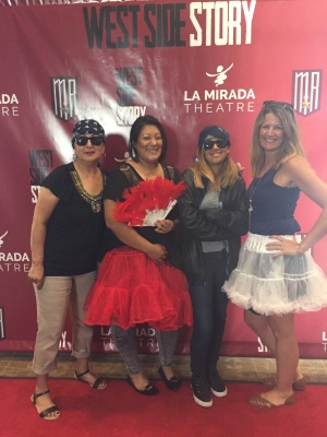 Carol, Nene, Miranda, Megan at West Side Story play
