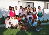 Our family sometime in the 80's when cousin Jorge from TX visited