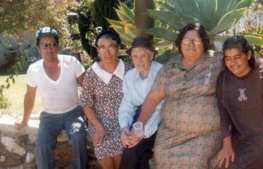 Bartolo, Mom, Abuelo, Tia Lucia, Tia Juanita
