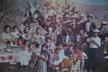 El Rincon fiesta, standing, Tia Lucia, Tio Bartolo, Tio Fidel, Abuelito