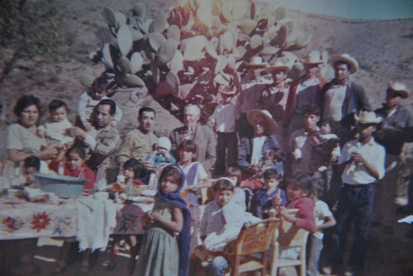 026 El Rincon fiesta, standing, Tia Lucia, Tio Bartolo, Tio Fidel, Abuelito