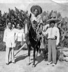 Tio Bartolo, Tio Beto on horse, Tio Fidel