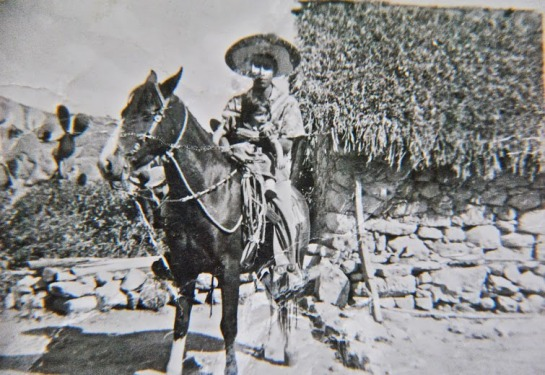 Tio Beto with his horse, El Rayado