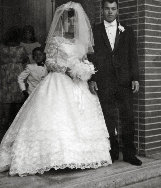 Beany and Robert's wedding day