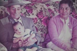 Dad, baby Tacho, Angela Caldera