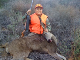 JoJo with his first deer, Glendora