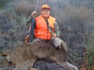 JoJo with his first deer, Glendora