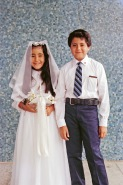 Sonia and Junior making First Communion