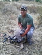 JoJo with bow hunt buck