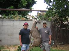 Me and Tacho with his buck at Tio's