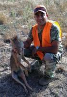 Tacho shot coyote at Vandenberg