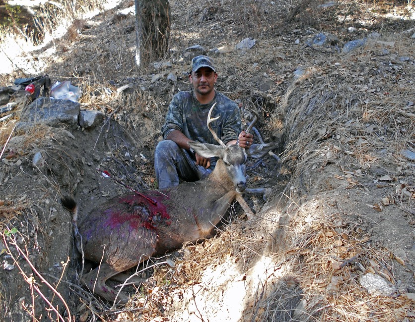 Tacho arrowed this heavy buck, Altadena