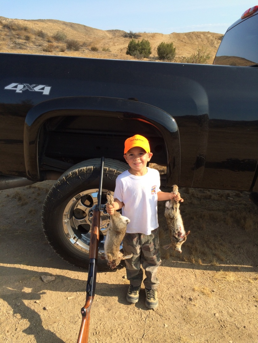 Cruz on rabbit hunt with DaDa