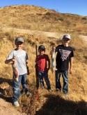 Cruz and his cousins on rabbit hunt