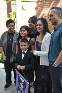 Domingo family at David's Communion