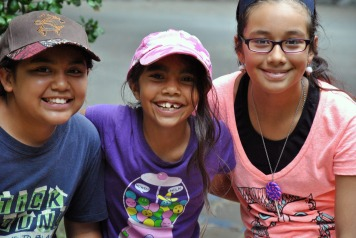 Angela, Aracely, Miranda on hiking trip