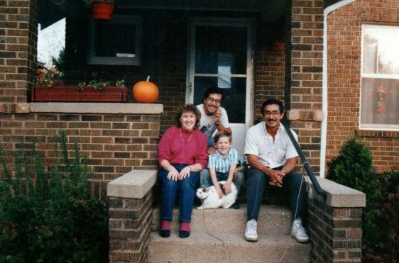 Ann, Brian, myself, Angie at their home