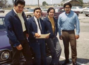 Zeke, Alex Castañeda, Ralph Rodriguez, Bacho Sierra. First Spades scholarship presented to Artesia High student