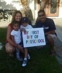 Cruz 1st day of school 3