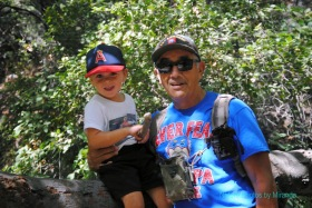 Cruz and Papa hiking