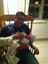 DaDa and Cruz, newborn