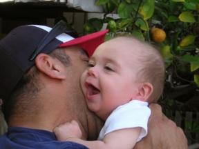 Tacho and baby Cruz
