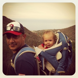 Cruz hiking with DaDa