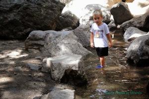 Cruz on hike with Papa and Mama, Monrovia Canyon Falls