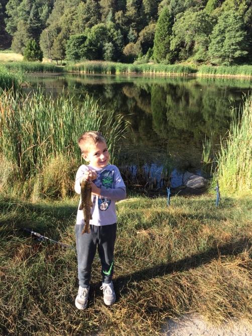 Cruz fishing Palomar Mtn.