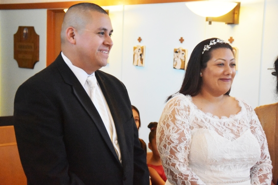 Nene, Edgar, marry by church, March 2020