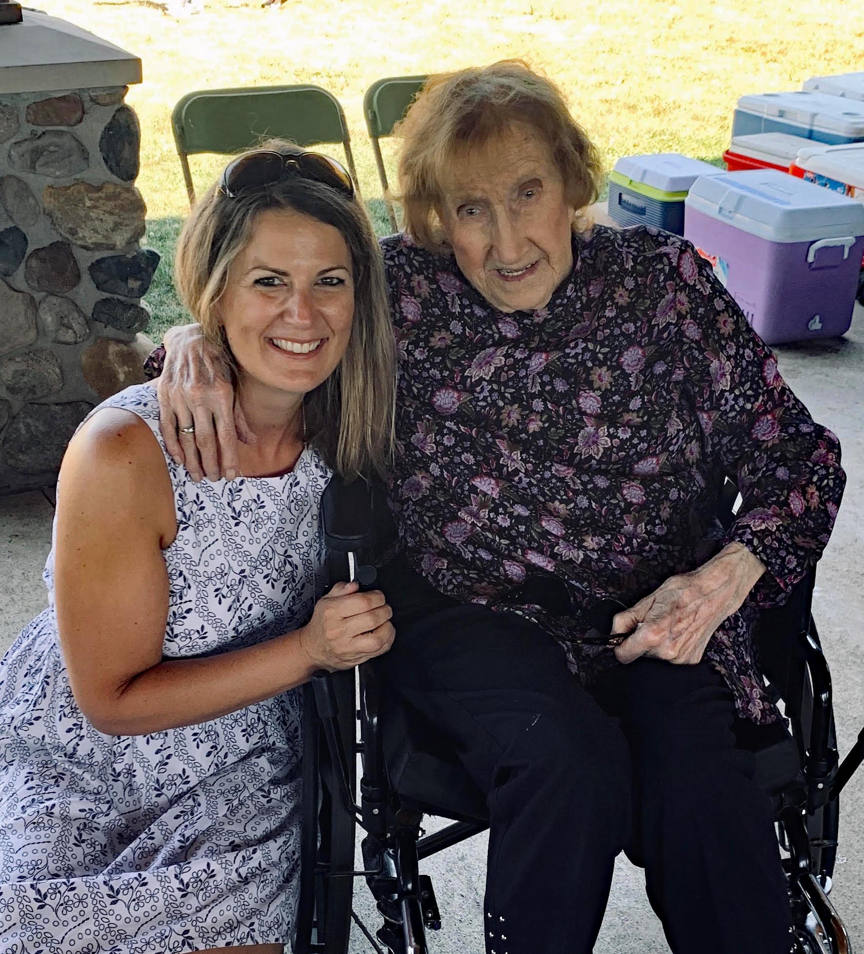 Grandma Ellen and Megan