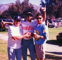 At UCLA football game, 1998