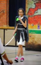 Miranda at school play, St Pius
