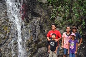 David, Nico, Miranda, Aracely, Angela, at Monrovia Canyon Falls