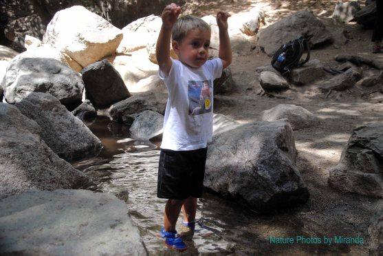 Cruz at Monrovia Canyon Falls hike