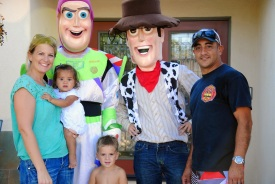 Sami Cruz with Toy Story