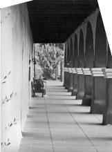 Old man at Santa Cruz mission