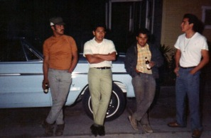 Efaim, Reynaldo, Bobby Salcido, 90 pound Chaug in Tshirt. Probably 1971