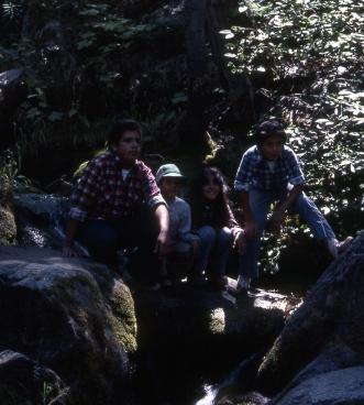 Cousins camping