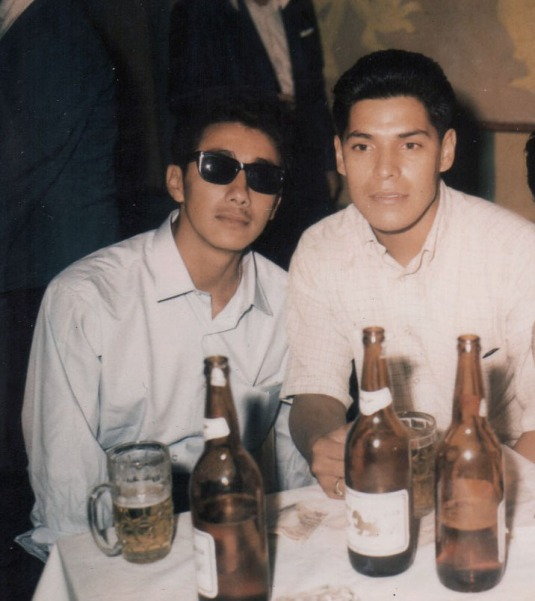 Myself, Richard Orduño, 1969 in Thailand. Both of us were on R&R. He was stationed there, I came over from Nam