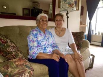 Tricia and Mom Gerónima