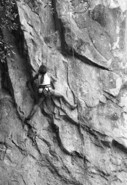 Yosemite female rock climber