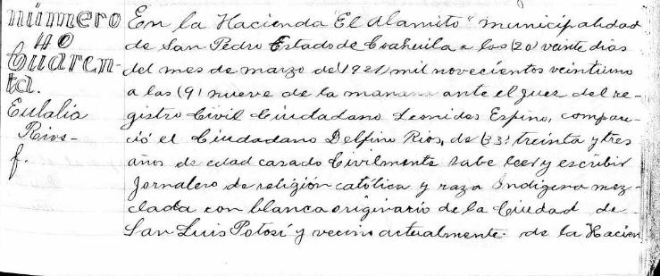 Eulalia Rios 1921