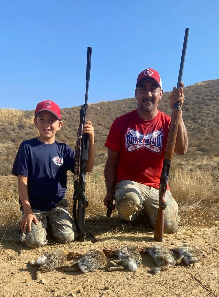 Cruz and Tacho controlling rabbit population